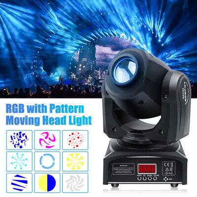 Stage Light 30W RGBW LED GOBO Spot Moving Head Light DMX Disco DJ Party Beam • 72.99£