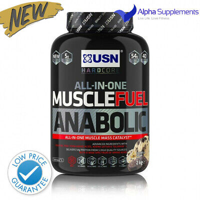 USN Muscle Fuel Anabolic V2 Protein Muscle Growth All-in-One 2kg | LOW PRICE • 28.10£