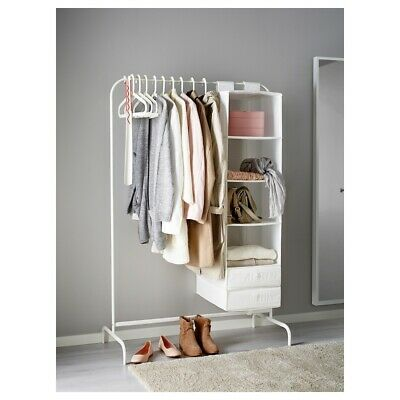 Clothes Rail With Storage Compartments • 22£