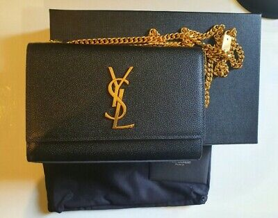 AU1350 • Buy Ysl Kate Small In Grain De Leather Chain Bag!! Gold Geunine Ysl Bag