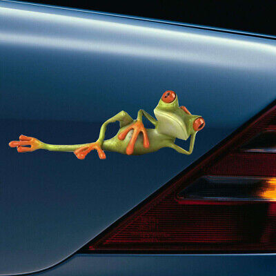 3D Funny Green Lying Frog Sticker Car Truck Window Decal Stickers Accessories • 4.16£