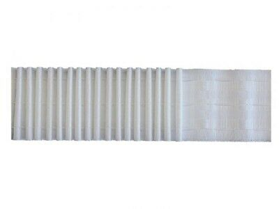 3  Woven Pocket Curtain, Pencil Pleat, Header Tape, White, Rufflette Style • 1.25£