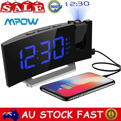 AU25.64 • Buy 5  Mpow Digital Projection Alarm Clock FM Radio LED Dimmable Snooze USB Charger