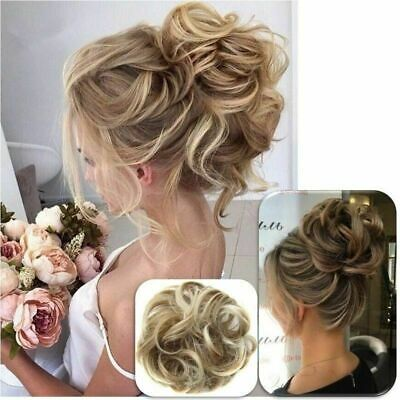 £4.69 • Buy Curly Messy Bun Hair Piece Scrunchie Updo Natural Hair Extensions Real As Human