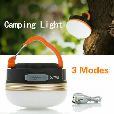 AU15.89 • Buy USB Rechargeable LED Camping Light Tent Lantern Super Bright Night Lamp Outdoor