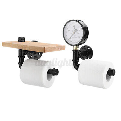 AU15.99 • Buy AU Rustic Industrial Toilet Paper Roll Holder Bathroom Pipe Shelf Floating Home