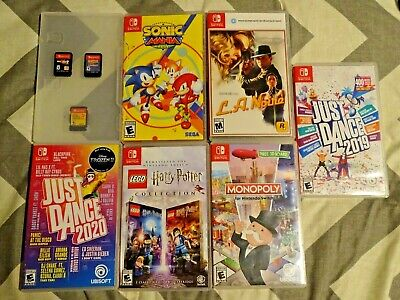 $102.50 • Buy Lot Of 9 Nintendo Switch Game Bundle! Mario, Sonic, Dragonball & More!