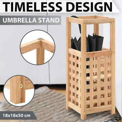AU40.99 • Buy VidaXL Solid Walnut Wood Umbrella Stand Parasol Storage Rack Holder Organizer