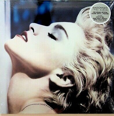 MADONNA True Blue LP (NEW SEALED 2019 *SPECIAL CRYSTAL CLEAR VINYL*) 1986 POSTER • 19.99£