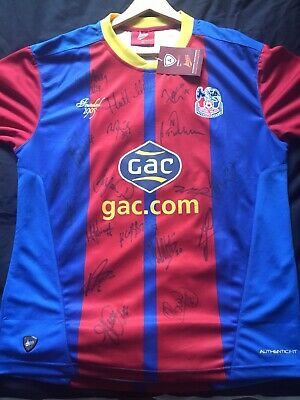 SIGNED Crystal Palace FC 2012 2013 Home Match Official Football Top Size Medium • 125£