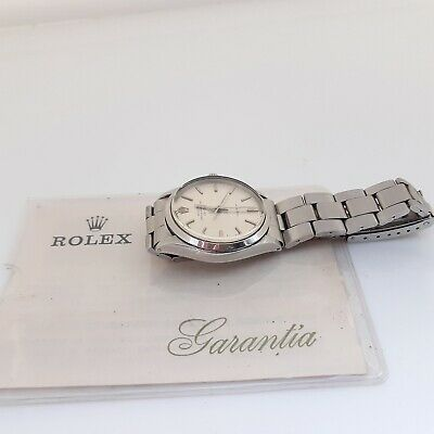$ CDN4211.66 • Buy Vintage Rolex Air King Steel Automatic Silver Oyster Watch 5500 With Papers 1971