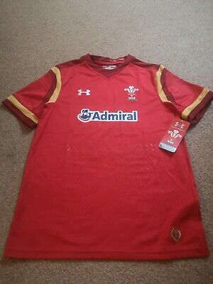 Wales Rugby Jersey Shirt Top BNWT. Admiral, Under Armour. Size YXL. • 5£