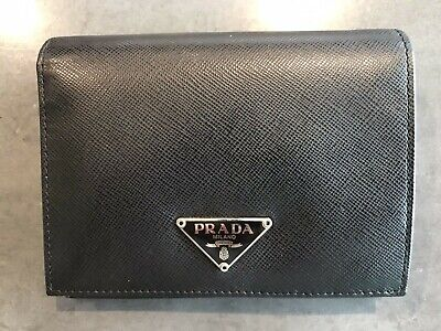Prada Ladies Purse Portafoglio Material Saffiano Colour Nero NEVER USED • 99£