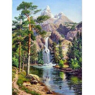 AU14.59 • Buy 5D Diamond Painting Embroidery Cross Craft Stitch Wall Arts Kit Landscape