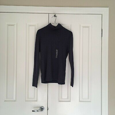 AU5 • Buy Dark Blue Uniqlo Soft Touch Turtleneck T-shirt (size XS)- In Perfect Condition