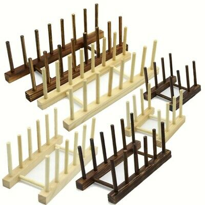 Bamboo Wooden Dish Rack Plates Holder Kitchen For Dish / Plate / Bowl / Cup  • 6.33£