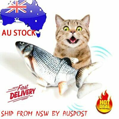 AU12.99 • Buy Electric Dancing Fish Kicker Cat Toy Wagging Realistic Moves