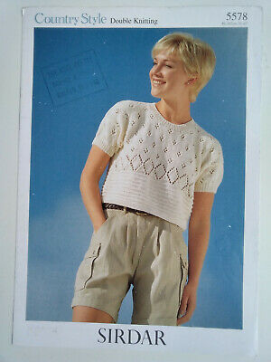 Ladies  Cropped  Top  Knitting  Pattern Sizes  32 - 42  Inch  Bust • 1.49£