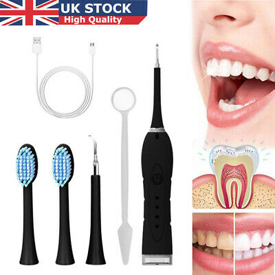 £14.39 • Buy Electric Tooth Stains Cleaner Ultrasonic Oral Dental Teeth Cleaning Kit UK