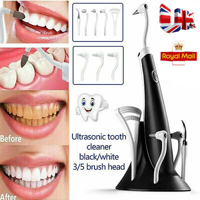 £14.39 • Buy 5 In 1 Tooth Polishing Cleaner Ultrasonic LED Electric Oral Teeth Cleaning Kit