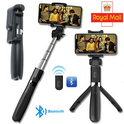 Bluetooth Selfie Stick Telescopic Tripod Monopod Phone Holder For IPhone Android • 8.73£