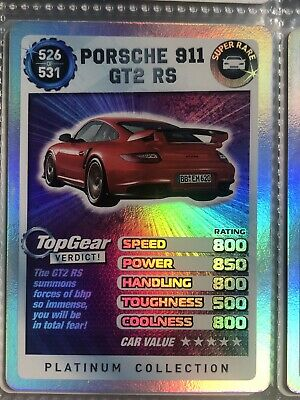 Top Gear Turbo Challenge Platinum Super Rare Porsche 911 GT2 RS 526/531 • 5£