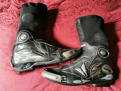 Guy Martin Race Worn Tt Signed Dainese Boots With Coa • 685£