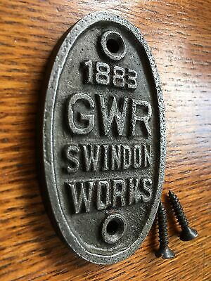 Small Oval Great Western Railway Swindon Cast Iron Plaque Gwr Metal Sign Cb4 • 6.39£