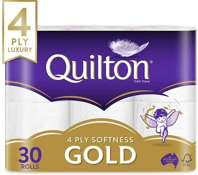AU26.90 • Buy 30 X Quilton 4 Ply Toilet Paper (140 Sheets Per Roll)  30 Rolls FREE SHIPPING!!!