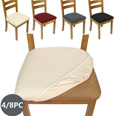 AU29.99 • Buy 4PCS Dining Chair Covers Kitchen Home Seat Cover Stretch Removable Slipcover