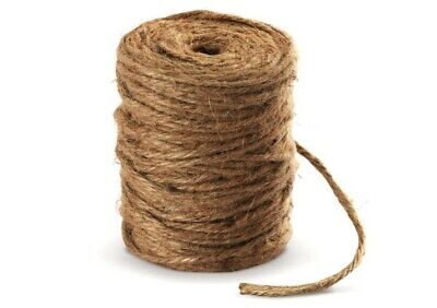 Absofine 100M Garden Cord Jute Twine String 4mm Thick Strong Natural Jute Rope  • 11.99£