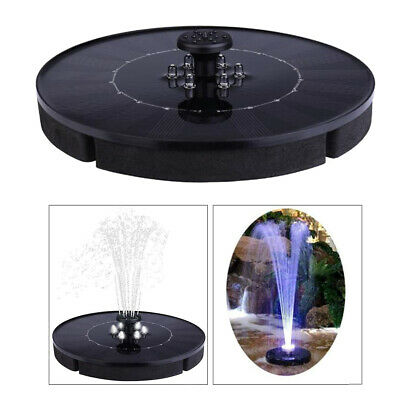 LED Solar Power Water Fountain Pump Garden Fountain Pump Bird Bath Floating • 18.85£