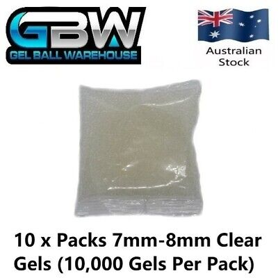 AU39 • Buy Gel Blaster 7mm-8mm Clear Extra Hardened Gel Balls 100,000 Gels