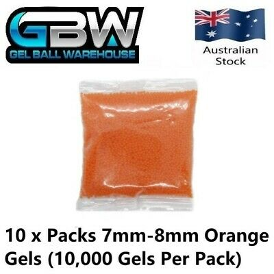 AU39 • Buy Gel Blaster 7mm-8mm Orange Extra Hardened Gel Balls 100,000 Gels