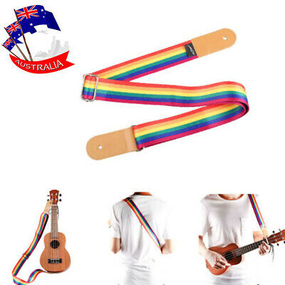 AU14.24 • Buy Adjustable Multicolor Ukulele Strap 21  Soft & Comfort Nylon For Hawaiian Guitar