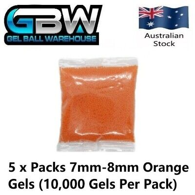 AU26.50 • Buy Gel Blaster 7mm-8mm Orange Extra Hardened Gel Balls 50,000 Value Pack