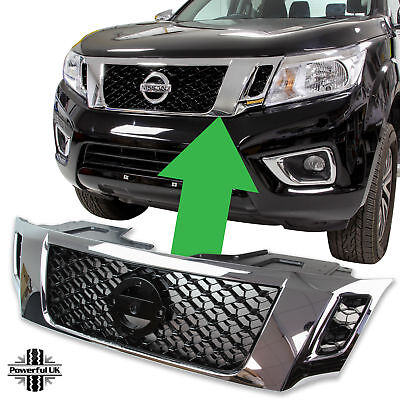 £120 • Buy Front Grille In Chrome & Black For Nissan Navara NP300 D23 (2015+)