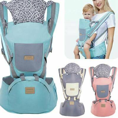 Ergonomic Infant Baby Carrier With Hip Seat Stool Adjustable Wrap Sling Backpack • 17.38£