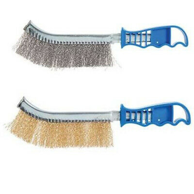 Silverline Wire Brush Steel And Brass 250 Mm Paint Rust Metal Removers Pack Of 2 • 3.70£