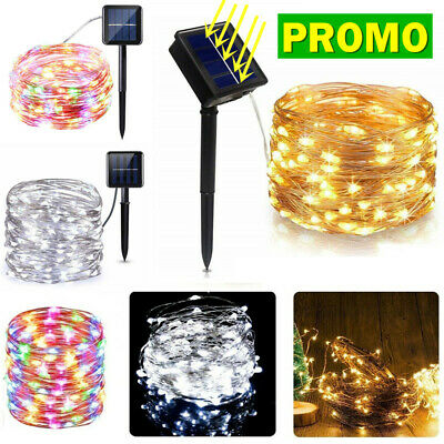LED Solar String Light Lights Waterproof Copper Wire Fairy Outdoor Garden&Party • 6.99£
