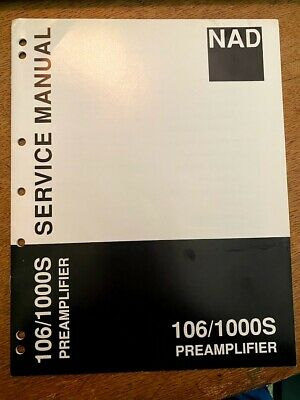 £8.70 • Buy Original NAD Service Manual For Amplifiers And Preamplifiers ~ Select One