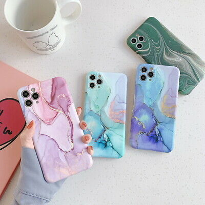 AU7.99 • Buy Colorful Marble Pattern Silicone Case Cover For IPhone 11 Pro Max XS XR 8 7 Plus