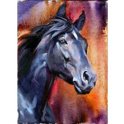 AU16.49 • Buy DIY 5D Full Drill Diamond-Painting Horse Kits Art Embroidery Home Decor Color