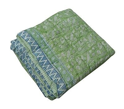 Indian Cotton King Size Jaipuri Quilt Throw Comforter Bedspread Blanket Quilt  • 70.91£