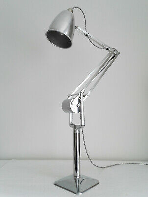 RARE EARLY HADRILL HORSTMANN PROTOTYPE ROLLER LAMP. 1940s INDUSTRIAL ANGLEPOISE. • 1,250£