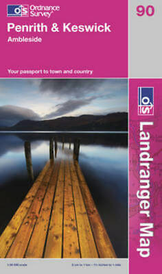 OS Landranger Map: Penrith & Keswick: Ambleside : Your Passport To Town And • 9.69£