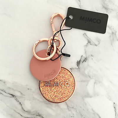 AU36.99 • Buy FREE POST MIMCO PINK Rose Gold Toned SUBLIME Keyring BLING KeyChain NEW Dust Bag