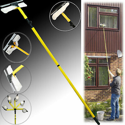 £15.99 • Buy 3.5M Extendable Telescopic Window Squeegee Pole Glass Dust Cleaner Brush Kit New