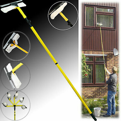 3.5M Extendable Telescopic Window Squeegee Pole Glass Dust Cleaner Brush Kit New • 14.99£