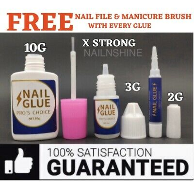 EXTRA STRONG NAIL GLUE 💅 PROFESSIONAL QUALITY 💅 Art Tips Acrylic💅 2G 3G 10G • 4.45£